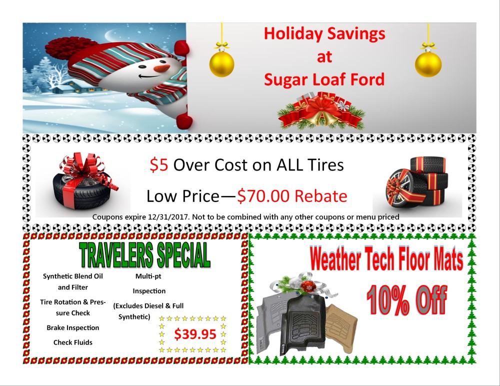 Dec service specials Sugar Loaf Ford