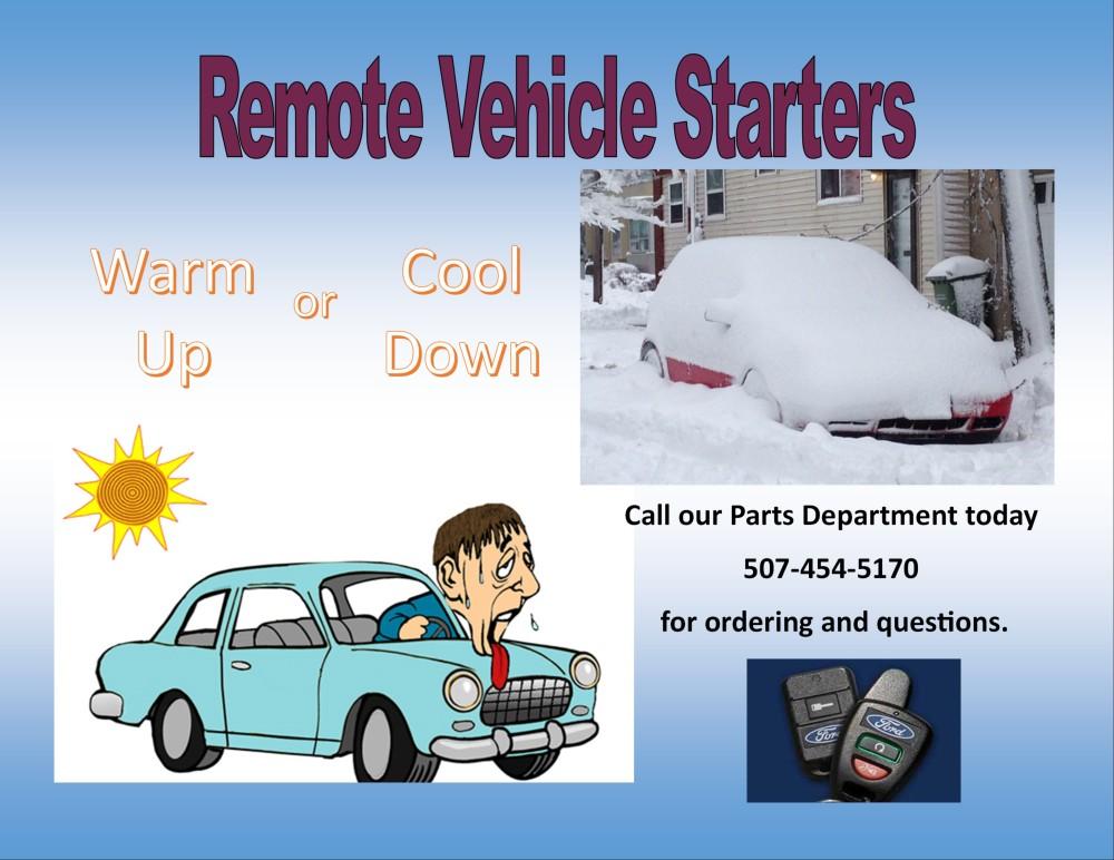 Parts Winona Remote Starts